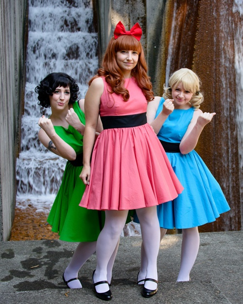 Powerpuff girls cosplay. Adorable!