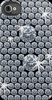 Great iPhone case - Diamond Bling Black
