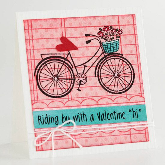 Bicycle Valentine Card