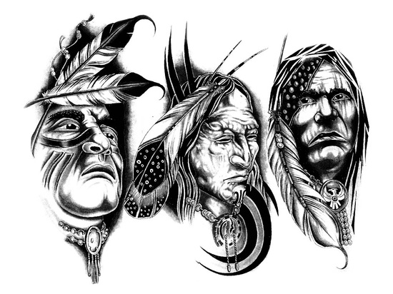 Gary Davis Native American Tattoo Patterns #1