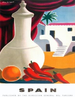 "Vintage 1950s ""Spain"" Travel Poster"