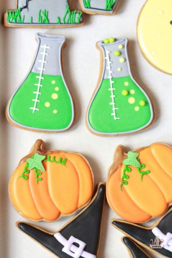 Mad Scientist Beaker Decorated Cookies