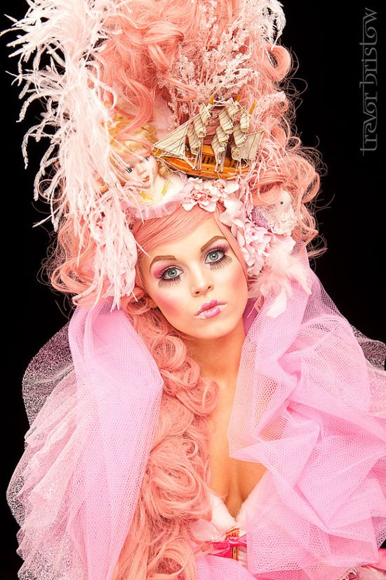 pink marie antoinette style