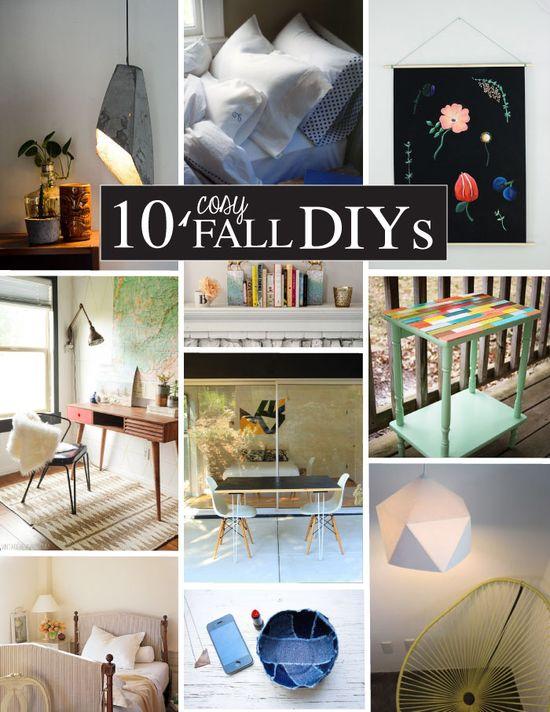 DIY - 10 Cozy Fall DIYs