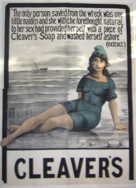 retro soap posters | ORIGINAL BRITISH Vintage Cleavers Soap Poster HUGE!!! For Sale ...