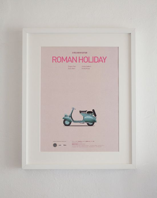 """famous car"" posters - roman holiday :)"