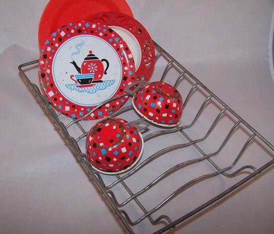 Vintage Child's Toy Dish/Drainer