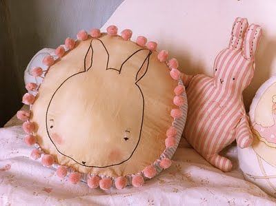 cuuute bunny pillow
