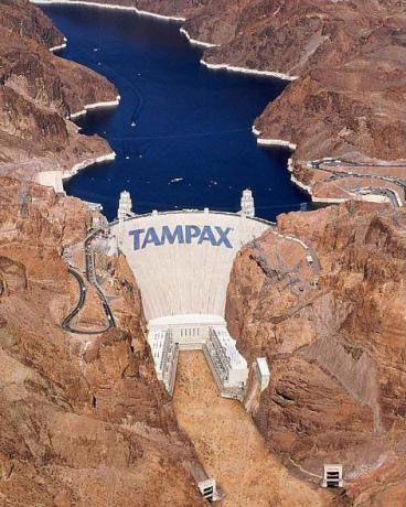 The Hoover Dam and Tampax.  It boggles the mind.    Pinned by Pink Pad, the women's reproductive and fertility health app with the built-in community.