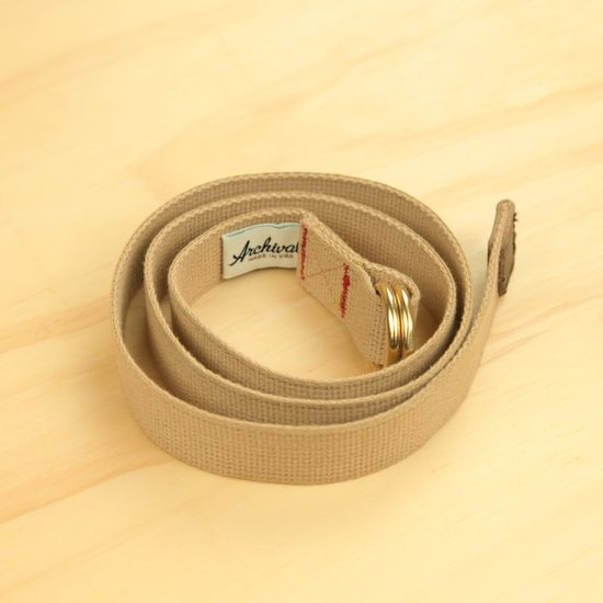 Archival Clothing Tan Web Belt