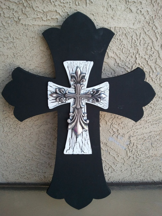 Hand Painted crosses by kraftychix on Etsy, $55.00