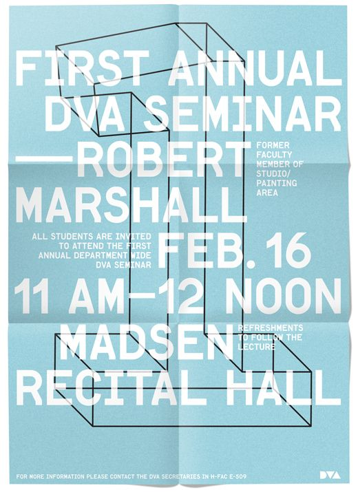 Department of Visual Arts Posters - some work by _ kent r miller (graphic designer)