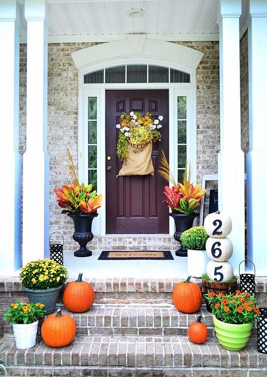 pretty fall porch
