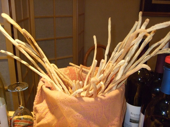 grissini fatti a mano (handmade bread sticks)