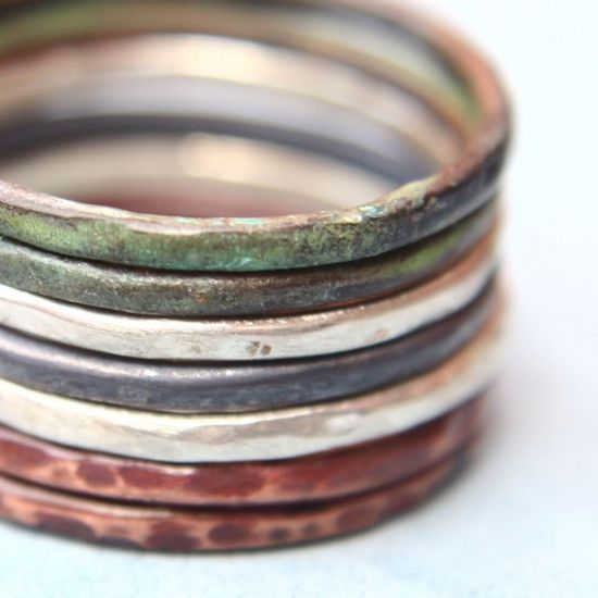 simple earthy boho rings