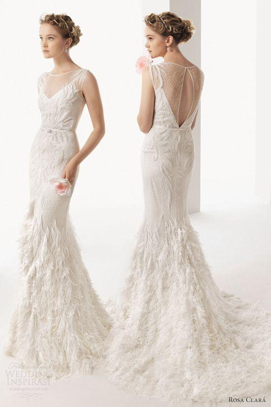 soft by rosa clara bridal 2014 uma sleeveless wedding dress keyhole back