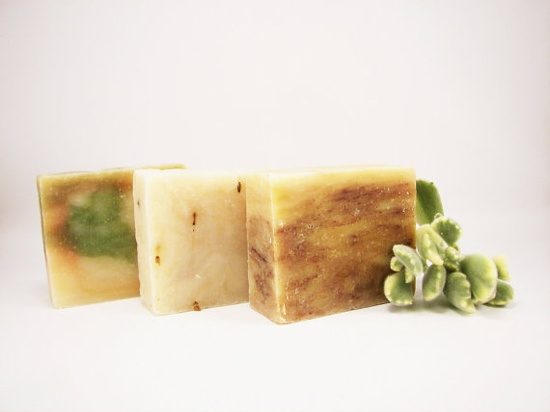 THREE 3 Large Organic Vegan Soap 6 oz Bars / 30 by ElysianOrganics, $18.75