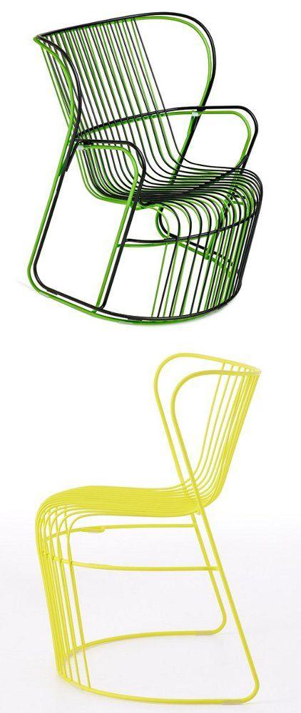 Steel #garden #armchair KASKAD by Nola Industrier