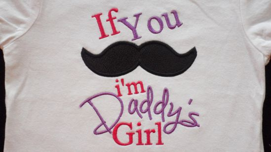 """Mustache Onesie Embroidered with  Girl Mustache """" If you """" Mustache I'm Daddys Girl """" Baby Girl Clothes Onesie Baby Gift Set. $16.00, via Etsy."""