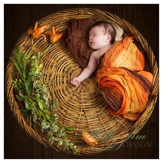 FREE SHIPPING Pumpkin Spice newborn baby wrap by prettypanda. $15.00, via Etsy.