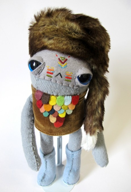 Handmade plushie tribal dude by Cat-Rabbit
