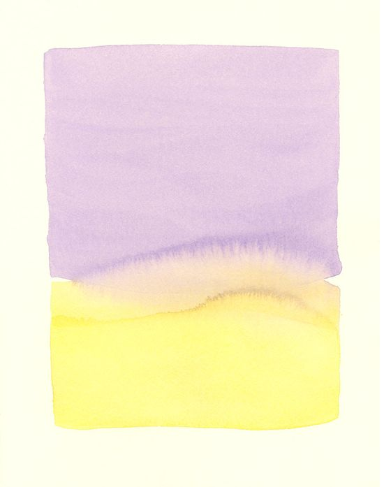 large lavender double shapes original watercolor. $140,00, via Etsy.