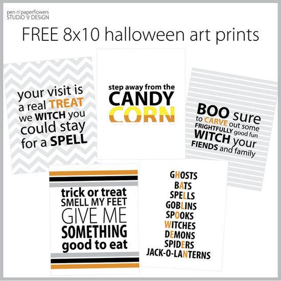 FREE Halloween Art Prints #free #printables #halloween #artprints #candycorn #witch #treat #candy