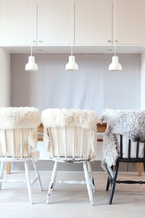Fake fur in home #interior #alternatives