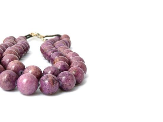 BERRY purple jade two strand chunky by stonesartisanjewelry, $88.00