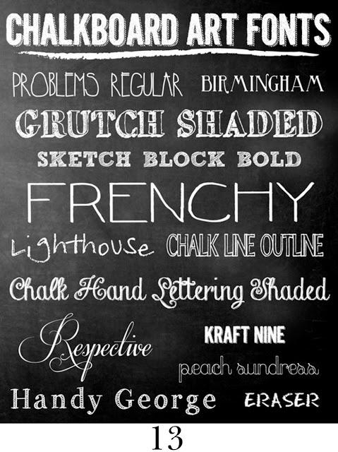 Chalkboard fonts!! #fonts