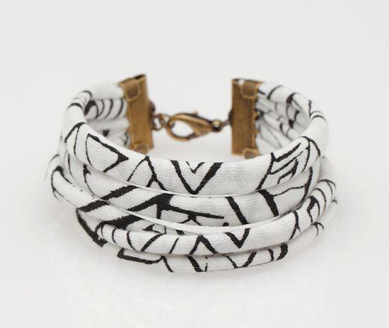 fabric bracelet 22,00 etsy