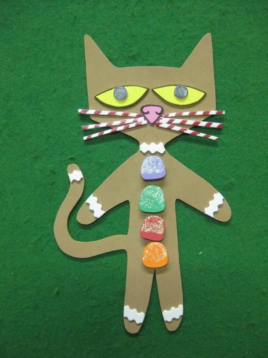 cute gingerbread Pete the cat story idea here