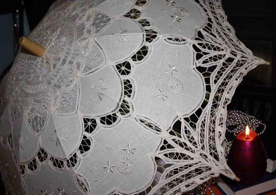 vintage lace cream parasol