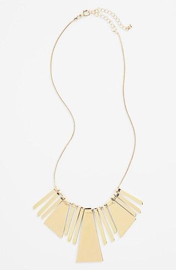 Perfect! Gold geometric bib necklace