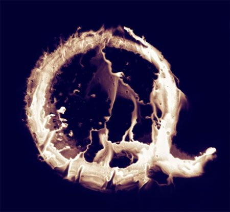 fire typography