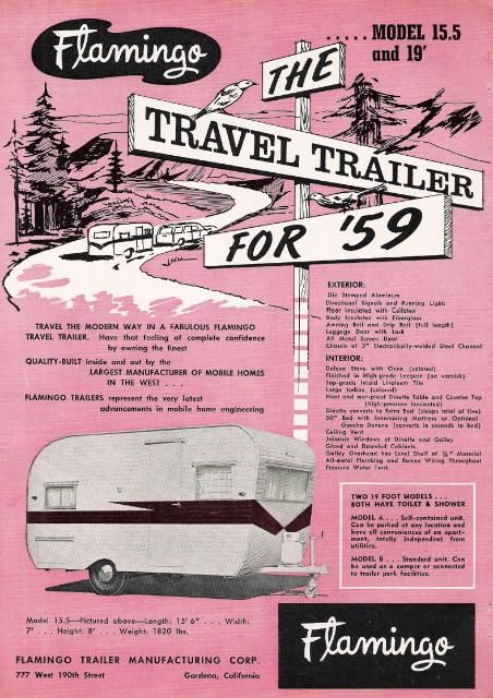 Flamingo travel trailer 1959