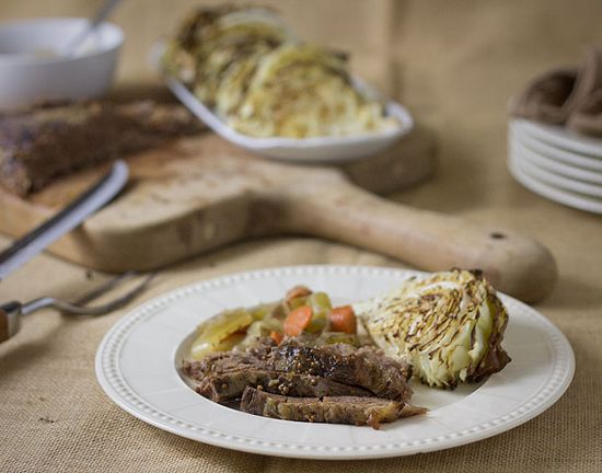 Slow Cooked Corned Beef Brisket and Roasted Cabbage
