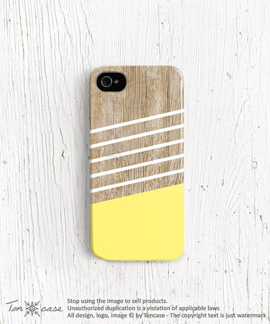Stripe iPhone 5 case, Stripe iPhone 4 case, iPhone 4s case, wood print iphone case wood effect geometric yellow wood iphone 4 case /c185