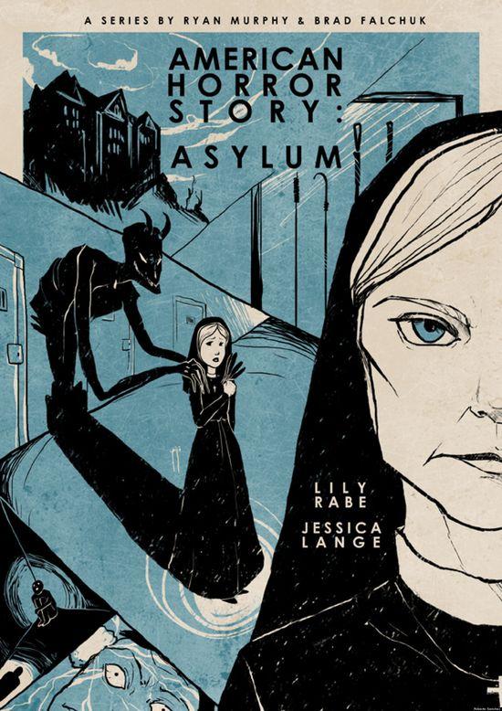 American Horror Story: Asylum vintage style poster