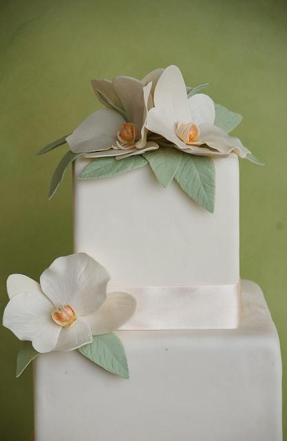 Orchid wedding cake- by Alessandra Cake Designer, via Flickr