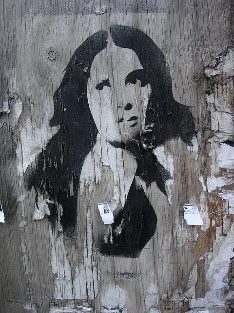 graffiti street art woman