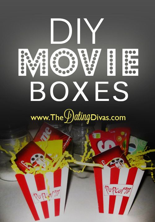 What a FUN and unique gift idea!  These DIY movie boxes are perfect for any occasion. www.TheDatingDiva... #DIY #giftidea #thedatingdivas