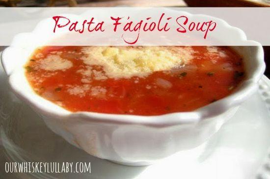 Pasta Fagioli Soup Recipe via Our Whiskey Lullaby >> #WorldMarket Fall Cooking #Recipes #GourmetGetaway #Italian