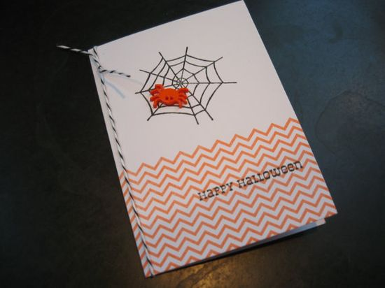 Handmade Halloween Card Spider Card by apaperaffaire on Etsy