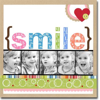 page. ll Hero Arts Scrapbooking: Smile
