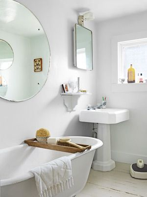 Bathroom Decorating and Design Ideas - Country Bathroom Decor - Country Living......Some really neat bathroom ideas here!!  www.countryliving...