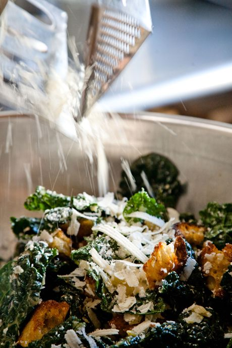Kale caesar. Nice. Kale could stand up to a really strong dressing