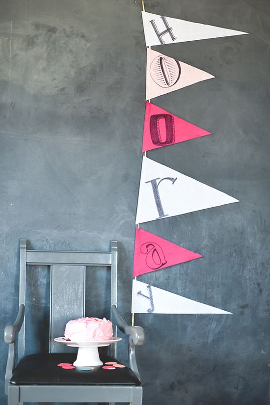 DIY: Super cute Hooray! banner