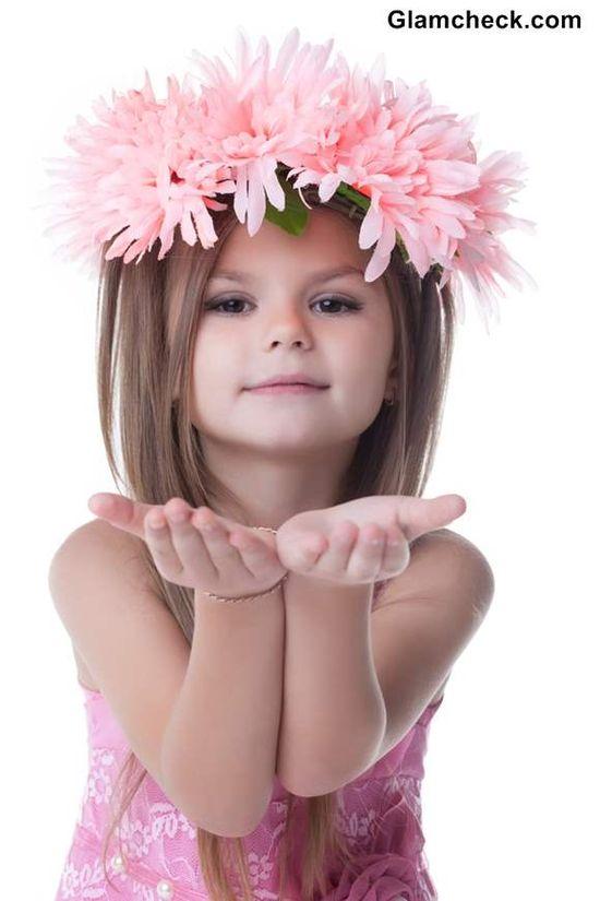 Little girls hairstyle -  Flower Wreath Hairstyles for Flower Girls