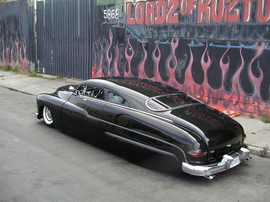 """Car #4: A chopped, lowered and channeled '49 Mercury, otherwise known as the """"Lead Sled."""""""